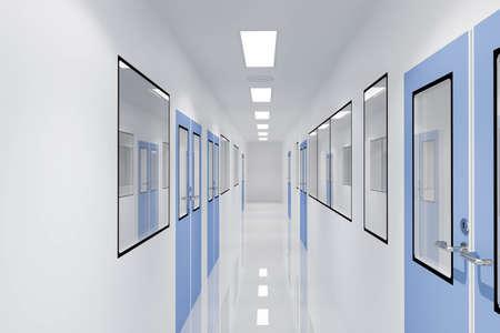 Foto de Corridors For Clean room pharmaceutical plant - Imagen libre de derechos