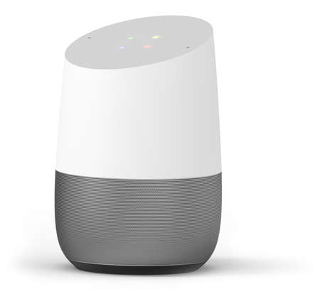 Photo pour Smart hub home assistant isolated on white - image libre de droit