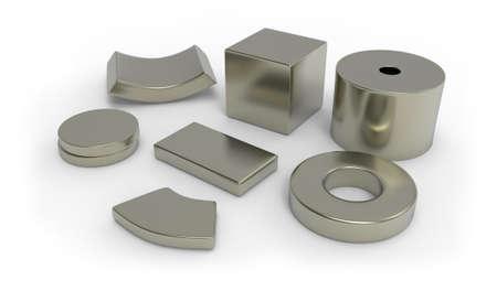 Foto de Neodymium magnets - Imagen libre de derechos