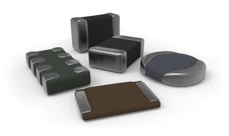 Photo pour SMD electronic components - image libre de droit