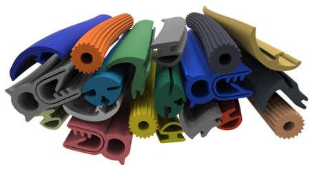 Photo pour Extruded rubber profile (sealing) - image libre de droit