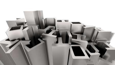 Photo pour Structural metal shapes - image libre de droit