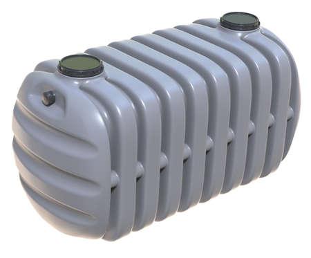 Photo pour Septic tanks isolated on white - image libre de droit