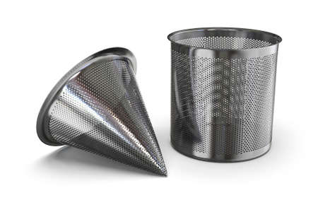Foto de Perforated temporary filters isolated on white - Imagen libre de derechos