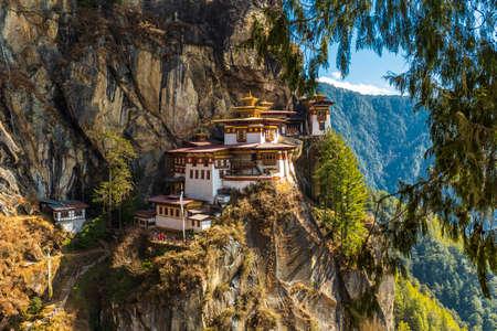 Photo pour Tigers nest Temple, Paro valley - Bhutan - image libre de droit