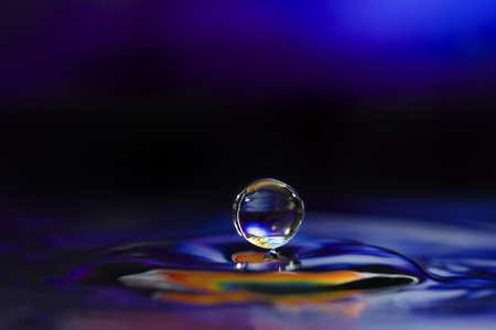 Foto de Colorful Water Drop Sculptures. This is one drop of water. - Imagen libre de derechos