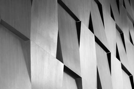 Foto de Wood wall geometry decoration background - Imagen libre de derechos