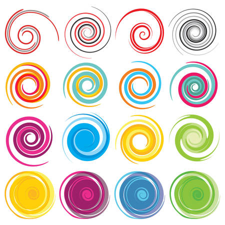 Ilustración de Colored Vector spirals - Imagen libre de derechos