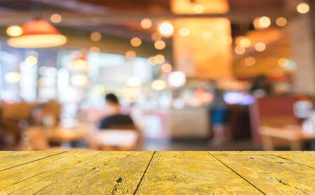Foto de Coffee shop blur background with bokeh image . - Imagen libre de derechos