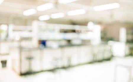 Foto de blur image of old laboratory for background usage. - Imagen libre de derechos