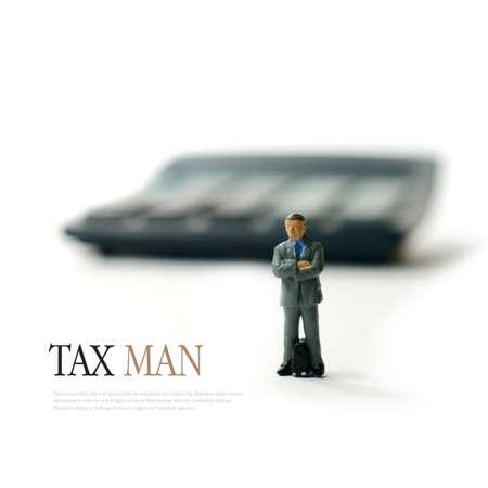 Photo pour Concept image for tax man, revenue and customs etc. Copy space. - image libre de droit