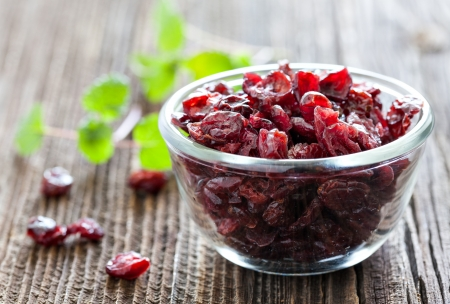 Photo for dried cranberries in a bowl - Royalty Free Image