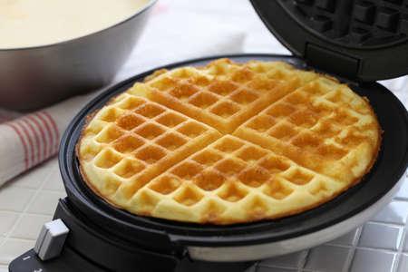 Photo for preparing homemade waffles - Royalty Free Image