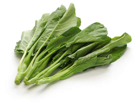 Foto de Chinese kale, chinese broccoli isolated on white background - Imagen libre de derechos