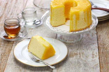 Photo for homemade orange chiffon cake - Royalty Free Image