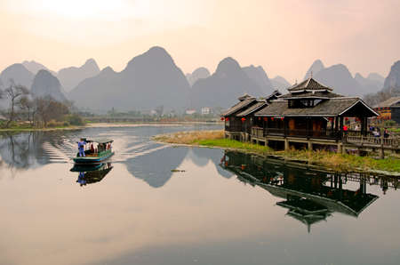 Photo for Landscape in Yangshuo Guilin, China   - Royalty Free Image