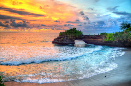 Photo for Tanah Lot Temple on Sea in Bali Island Indonesia - Royalty Free Image