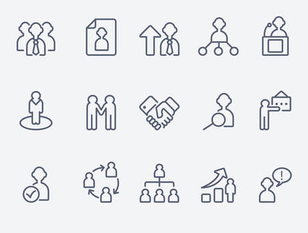 Illustration for Human management icons - Royalty Free Image