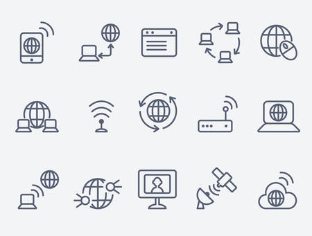Illustration pour internet icons - image libre de droit
