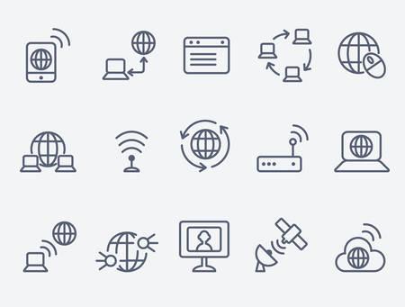 Ilustración de internet icons - Imagen libre de derechos