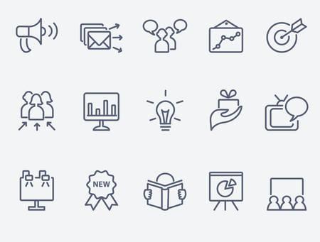 Illustration pour Marketing icon set - image libre de droit