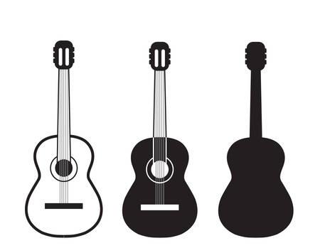 Illustration pour Set guitars symbol. - image libre de droit