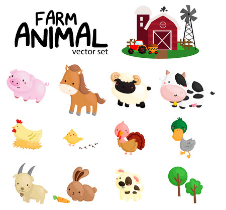Foto de Farm Animal Vector Set with No Background - Imagen libre de derechos