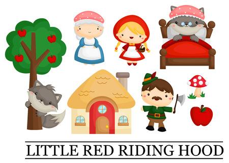 Illustration pour Little Red Riding Hood - image libre de droit