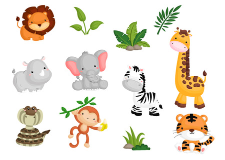 Illustration pour Jungle Animal - image libre de droit