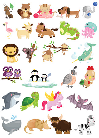 Photo pour Animal Alphabet Vector Set - image libre de droit