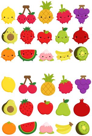 Illustration pour Cute Fruit Icon - image libre de droit