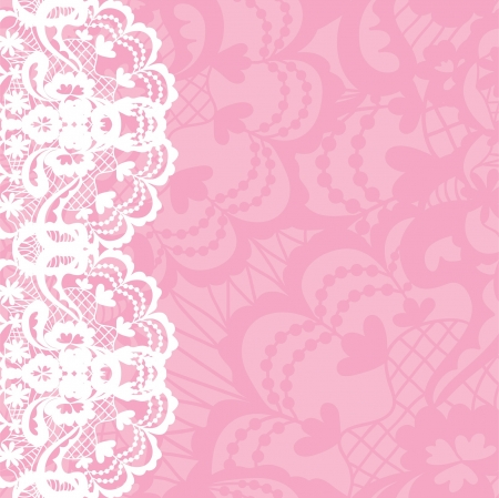 Photo for Vertical seamless background with a floral lace ornament - Royalty Free Image
