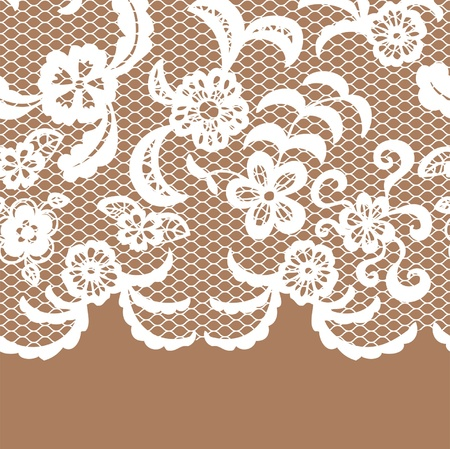 Illustration for Seamless lace border. Vector illusration. - Royalty Free Image