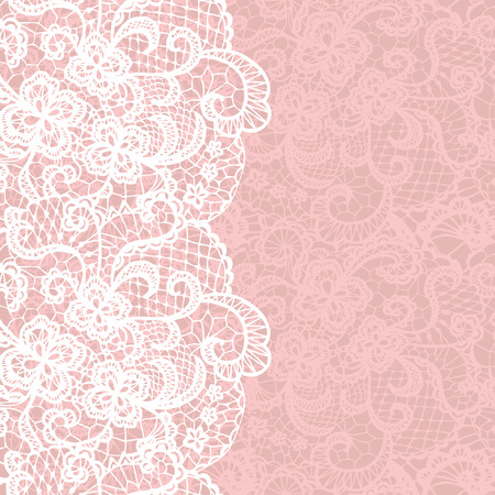 Illustration pour Vertical seamless background with a floral lace ornament - image libre de droit