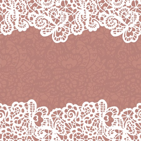 Illustration for Seamless lace border.  - Royalty Free Image