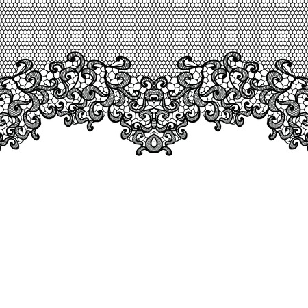 Illustration for Horizontal seamless background with a floral ornament - Royalty Free Image