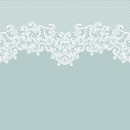 Illustration for White vector lace on texture, template. - Royalty Free Image