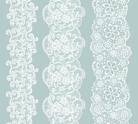 Illustration for White lacy vintage elegant trim. Vector illustration. - Royalty Free Image
