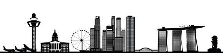 Ilustración de singapore skyline - Imagen libre de derechos