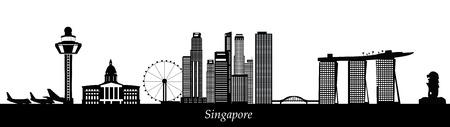 Illustration pour singapore skyline - image libre de droit