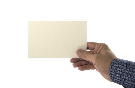 Foto de Hand holding blank plain card - Imagen libre de derechos