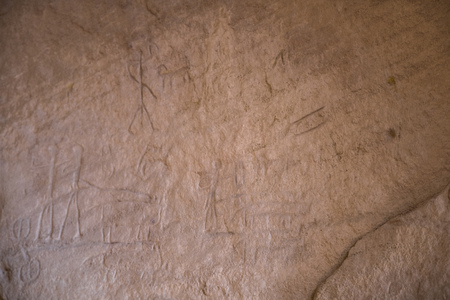 Foto de old drawings on the rocks from twelfhundres before christ - Imagen libre de derechos