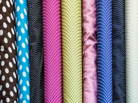 Photo pour Colorful fabric rolls - image libre de droit