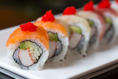 Foto de Sushi set, Japanese food - Imagen libre de derechos