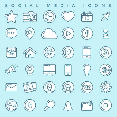 Ilustración de Social Media Icons Set - Imagen libre de derechos