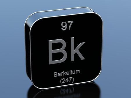 Photo pour Berkelium black glossy 3d icon - image libre de droit