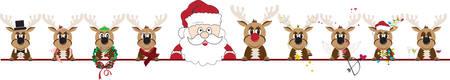 Ilustración de Make  Your Christmas Special with this  Christmas Reindeer border design. - Imagen libre de derechos