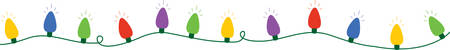 Illustration for Use this string of lights for a festive Christmas border. - Royalty Free Image