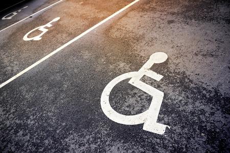 Foto de handicap parking - Imagen libre de derechos