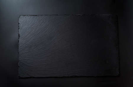 Photo for black slate board for serving, top view - Royalty Free Image